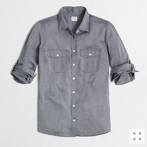 J. Crew Factory End on End Camp Shirt